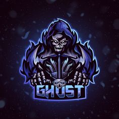 Ghost Esports Logo done on Fiverr! Please Click image for link! Team Logo Design, Mascot Design, Branding Design, Beast Logo, Iron Man Art, Hero Logo, Esports Logo, Game Logo, Logo Concept