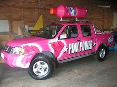 Pink Power Vehicle Wrap