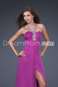Brilliant A-Line Halter Floor-Length Prom Dresses