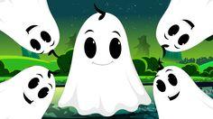Five Naughty Ghosts | Halloween Nursery Rhyme Songs For Kids
