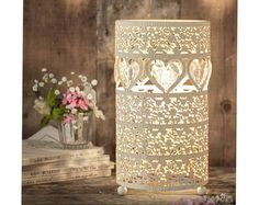 Heart Table Lamp, metal decorative pretty warm light #Klife