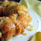 Ooey gooey pull-apart bread with coconut milk, pineapple, macadamia nuts, and rum!
