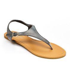 Love this Black Iridescent Strap Sandal on #zulily! #zulilyfinds