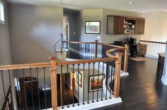 Choice Construction, Remodel, Custom Homes, Gig Harbor, Landing, Second Story, Office, Wood Trim, Railing