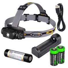 Fenix HL55 900 Lumen CREE LED Headlamp with Fenix ARE-X1 battery charger, Fenix 18650 ARB-L2M rechargeable battery and two EdisonBright CR123A Lithium batteries * To view further, visit now : Camping stuff