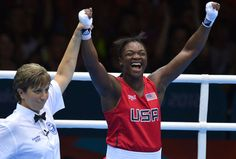 At 17 years of age, Claressa Shields wins the Middlewight boxing gold medal for the USA at London 2012