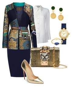 """""""Untitled #235"""" by sh-66-sh on Polyvore featuring WearAll, Gucci, Etro, GEDEBE, Christian Louboutin, Chanel, Tory Burch and Janna Conner"""
