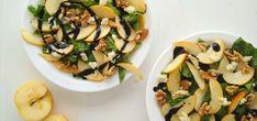 ¿Siempre te preparas las ensaladas de la misma manera? Esta ensalada de espinacas manzana y queso de cabra es una alternativa fácil y saludable para variar Cilantro, Healthy Eating, Healthy Food, Zucchini, Menu, Healthy Recipes, Vegetables, Cooking, Gluten