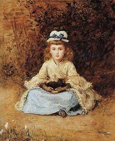 Cats in Art: Sir John Everett Millais British, 1829 - 1896 Early days