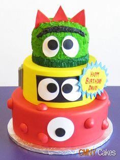 Yo gabba gabba cake for Junior's birthday this year