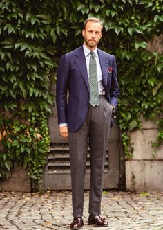 Classic bespoke in navy and brown