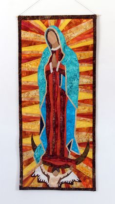 Our Lady of Guadalupe art quilt wall hanging by JPGstudio2536