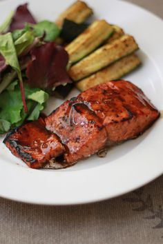 Balsamic-Lime Salmon // One Lovely Life  (gluten free, dairy free)