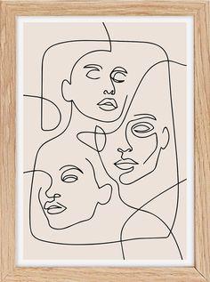 Flower Abstract Line Art Print, Minimalist Art Print (Digital Print) - Minimal… - Pink abstract print large abstract painting print pink yellow abstract art print … Pink abstract - Abstract Face Art, Abstract Canvas Art, Abstract Lines, Pink Abstract, Abstract Drawings, Arte Inspo, Kunst Poster, Face Lines, Art En Ligne
