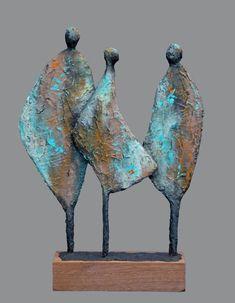 Galerie - Josefine-Art Steel Sculpture, Pottery Sculpture, Wire Tree Sculpture, Sculpture Clay, Abstract Sculpture, African Sculptures, Small Sculptures, Ceramic Sculpture Figurative, Pottery Painting Designs