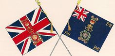 Colours of the Portsmouth Division , Royal Marines, presented by HRH The Duke of Edinburg in 1956.