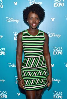"Lupita Nyong'o of THE JUNGLE BOOK took part today in ""Worlds, Galaxies, and Universes: Live Action at The Walt Disney Studios"" presentation at Disney's D23 EXPO 2015 in Anaheim, Calif."