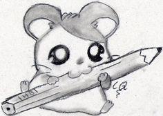 _Dibujo a lapiz RATON KAWAIII_