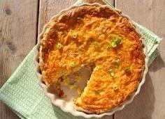 Lekker, een hartige taart met aardappel en kip