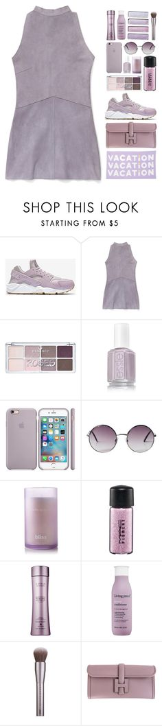 """""""i didn't want to come to you in your dreams"""" by luizajarosa ❤ liked on Polyvore featuring NIKE, Rebecca Minkoff, Monki, Bliss, MAC Cosmetics, Living Proof, Urban Decay and Hermès"""