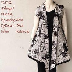 Model Cardigan Batik Vest Tanpa Lengan Motif Kelengan