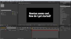 Getting Started with Newton tutorial series part 1 Newton seems cool, what do I do?  The tutorial project file can be found at http://www.iclickstuff.com/blog/archives/188  Newton is a 2D Physics plugin for After Effects available from www.motionboutique.com  The other Getting Started with Newton Tuts http://vimeo.com/iclickstuff/newtonpart2 http://vimeo.com/iclickstuff/newtonpart3 http://vimeo.com/iclickstuff/newtonpart4 http://vimeo.com/iclickstuff/newtonpart5