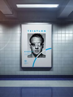 The subtley of this triathlon poster is fabulous. Excellent piece of design. Originally pinned by MyDesy 淘靈感