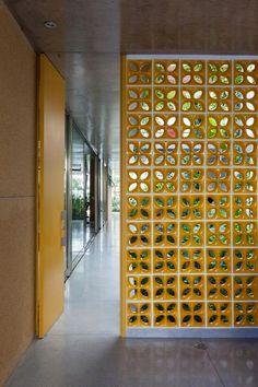 Mid-century modern room dividers | Paint breeze blocks | Girlfriend is Better
