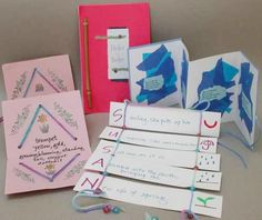 Making Books for Poetry Fun poetry.jpg (6k) Give your students interesting formats to present their poetry with simple book formats tailored to fit diffferent kinds of poems. This is not a workshop on writing poetry, but rather on creative formats to display poems such as diamante, acrostics, limericks, color poems, haiku, cinquain, and couplets.