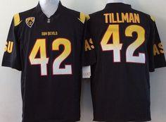 Arizona State Sun Devils 42 Pat Tillman Red/Black Football Jersey