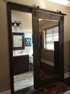 Love this for the guest bedroom closet with the mirror on it!