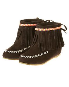 Fringe is being embraced by all ages for back to school. These super cute fringe boots are at Gymboree!