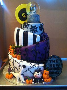 Topsy Turvy Nightmare Before Christmas Wedding Cake