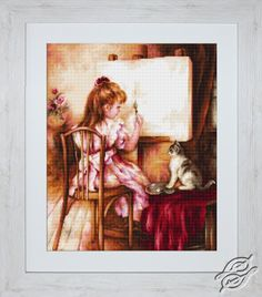 Artist and Model - Cross Stitch Kits by Luca-S - B535