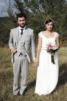 Delphine + Lionel   Mariages Cools Mariage   Queen For A Day - Robe Christina Sfez