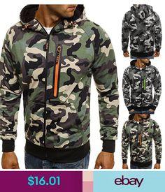 new Men's Outwear Camo Hoodies Warm Jumper Hooded Coat Jacket Sweatshirts Mens Winter Sweaters, Winter Hoodies, Warm Hoodies, Sweater Coats, Men Sweater, Jumper, Winter Camo, Sweat Clothes, Camo Hoodie