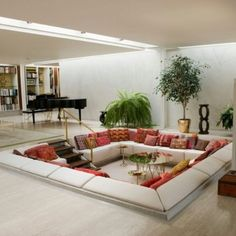 Sunken living room.
