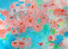 Soft Abstract Floral Flowers on Paper by kerriblackmanfineart