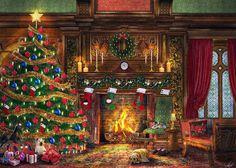 amerikanische weihnachtsdeko typischer weihnachtsbaum im. Black Bedroom Furniture Sets. Home Design Ideas