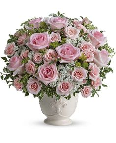 Parisian Pinks with Roses - Send Flowers Online with Flower Delivery byDowntown Flowers , Calgary's Favorite Florist!Downtown Flowers offers a satisfaction guar Cheap Flower Delivery, Fresh Flower Delivery, Same Day Flower Delivery, Rosen Arrangements, Floral Arrangements, Flower Arrangement, Flowers For Valentines Day, Send Flowers Online, Anniversary Flowers