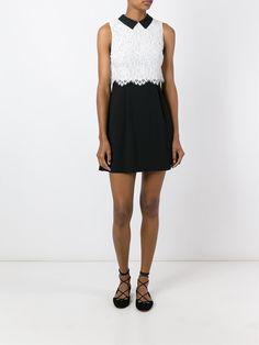 Alice+Olivia платье мини в стиле колор-блок