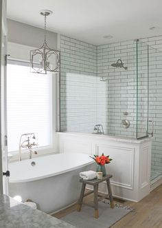 80 best farmhouse tile shower ideas remodel (77)