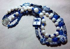 China Blue MultiStrand Necklace - One of a Kind