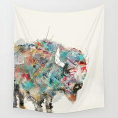 into the wild the buffalo Wall Tapestry