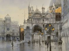 """""""Twilight/Twilight"""" 56 x 74cm. 2014,watercolor by Chien Chung Wei"""
