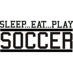 Design on Style Decorative 'Sleep Eat Play Soccer' Vinyl Wall Art Quote - Overstock Shopping - The Best Prices on Design on Style Vinyl Wall Art