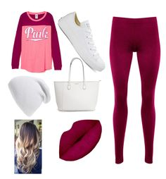 Pink by mag11rich on Polyvore featuring polyvore, fashion, style, HotSquash, Converse, Phase 3 and clothing