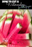 how to cut a watermelon