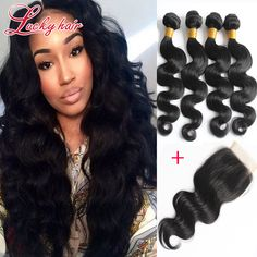 Cheap hair weave and lace wig wholesalers, Buy Quality hair afro directly from China hair cord Suppliers:  New Ali Queen Hair Brazilian Body Wave 4 Bundles With Closure Brazil 4 Bundles Wet And Wavy Virgin Brazilian Hair With