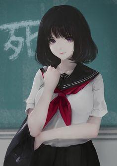 School Girl Your New Classmate Illust By Aoi Ogata Anime Girls Anime Art Girl